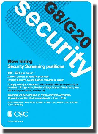 Who is Contemporary Security Canada? | Toronto Media Co-op