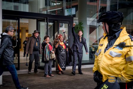 The people who went inside the meeting were happy when they left the Barrick AGM. Despite being denied the ability to speak, their message was heard.