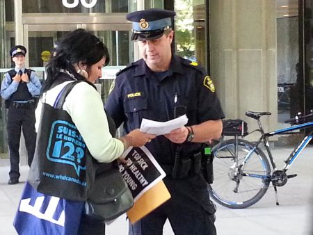 The OPP examine the OHAC petition held by longtime Hep C worker Zoe Dodd.