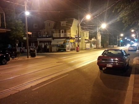 Dundas/Bellwoods, the scene of the Friday night streetcar shooting by police of Sammy Yatim.