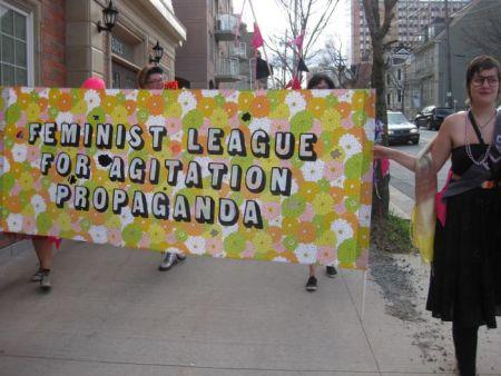 FLAP members at anti-G8 development ministers mobilization