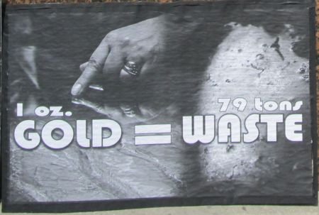 1oz GOLD= 79 tons waste