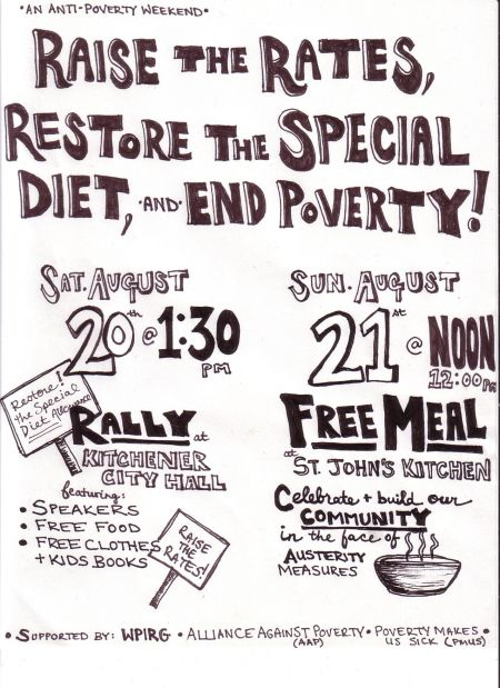 Anti-Poverty Weekend in Kitchener