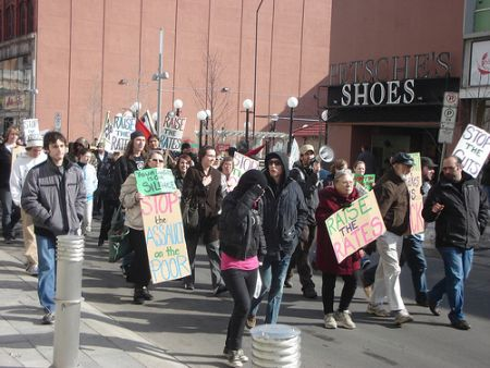 March at 3:00pm in downtown Kitchener