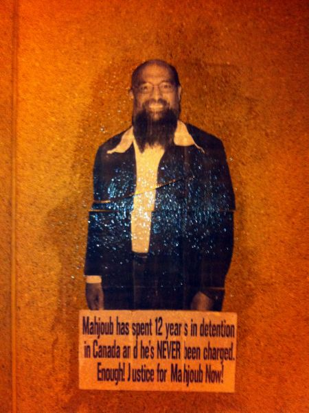 Toronto Jail Postered in support of Mahjoub