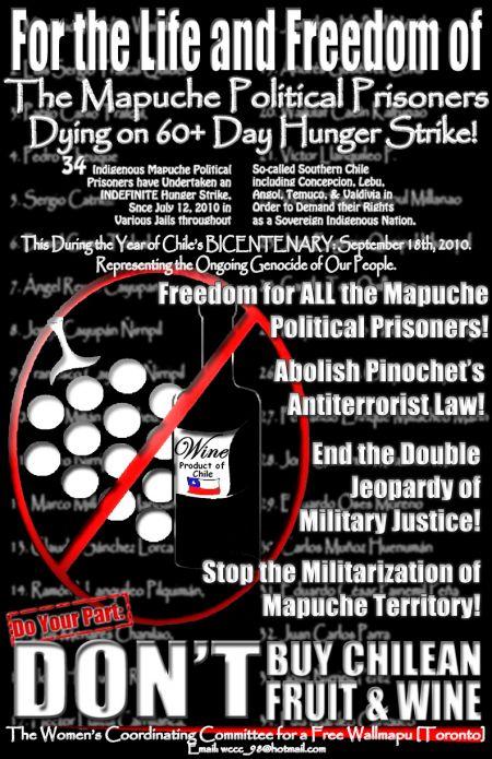 Boycott Chilean Fruit & Wine