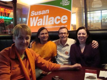 "Cathy Crowe, 2010 provincial NDP candidate in the same riding, said ""We are so proud of Susan"""