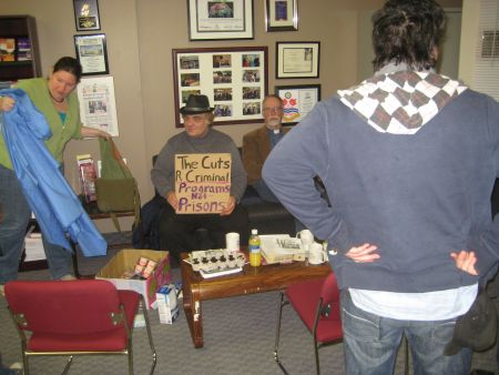 9:00am Milloy office occupation
