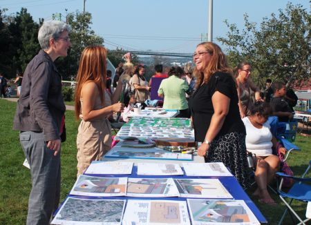 The MicMac Friendship Centre and the North End Community Health Centre welcomed neighbours to a barbecue in order to hear their input. Photo by Hilary Beaumont