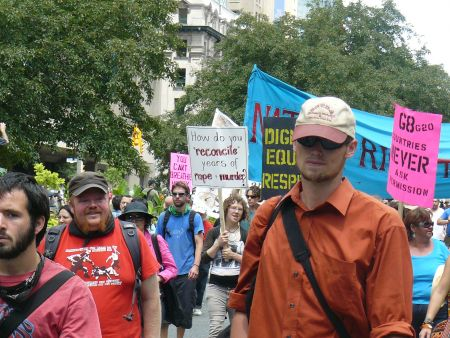 Indigenous Rights march, Thursday