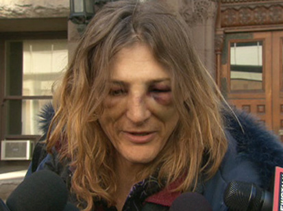 Angela after her arrest. Credit: CP24