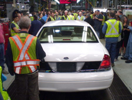 The last crown vic rolls off the line in