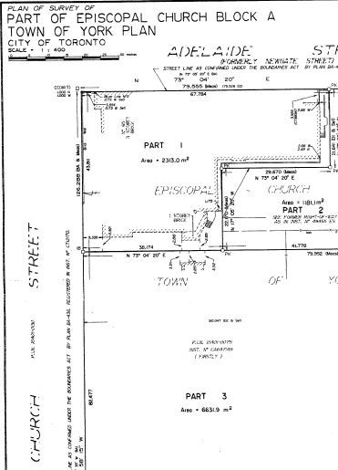 Land Title Specs for the Church and St. James Park