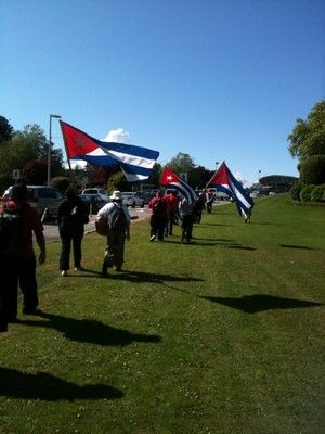 Canadian Contingent of Pastors for Peace Caravan to Cuba Stopped at Peace Arch