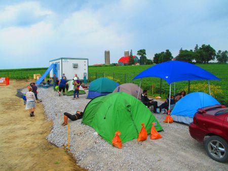 #DamLine9 blockade site