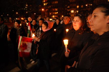 Candlelight vigil commemorating victims of hate crimes in Hungary