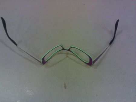 Emily Noether's glasses after being punched