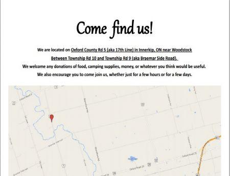 A map to the #DamLine9 construction blockade