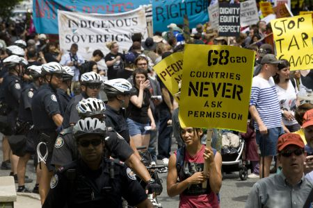 """""""We are not the threat.  The threat to this country are the people in power."""" Photo: Activestills"""