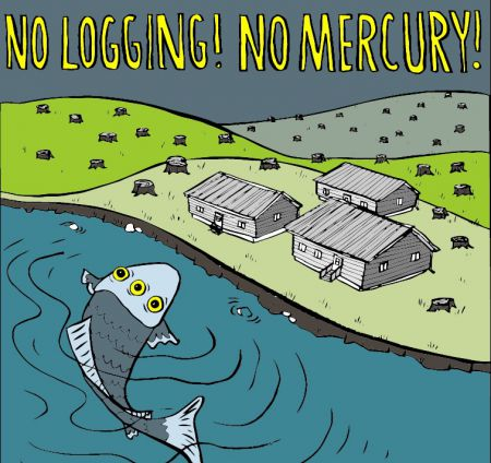 August 25 2013 - No Logging No Mercury Noise Demo at Kathleen Wynne's Home in Support of Grassy Narrows