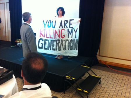 Speaking Up For Future Generations - Disrupting Pro-Tar Sands Conference