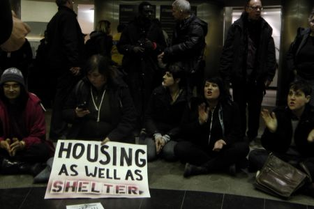 Organizers chastised the Ford administration for inaction on homelessness photo: DS Richardson
