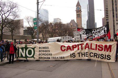 An anti-austerity message was at the heart of the demonstration photo: Kristyna Balaban