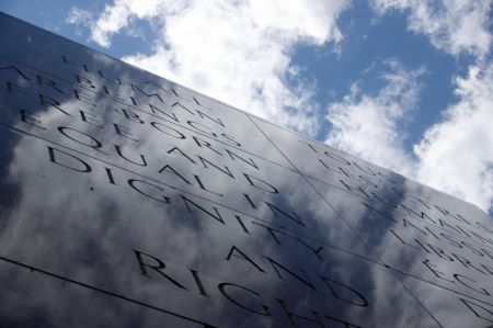 The Canadian Tribute to Human Rights in Ottawa is an existing monument where victims of oppressive regimes could be remembered. (Image courtesy of the National Capital Commission)
