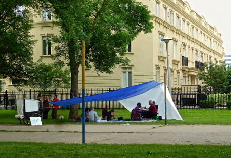 The Free'scool, which emerged out of Occupy Toronto, having classes in a park. (photo from their website)