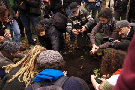 Occupy Gardens guerrilla gardening in Queens Park photo: Kristyna Balaban