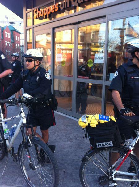 Police protect Joe Fresh and Loblaws PHOTO Sharmeen Khan
