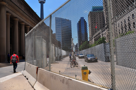 Fence in Toronto for the G20 // Zen Bohemian