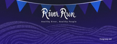 Banner for the River Run.