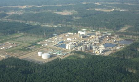 Aerial image of a SAGD site in Alberta (not Statoil). Photo by author.