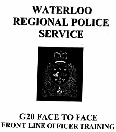 a title page in the training document