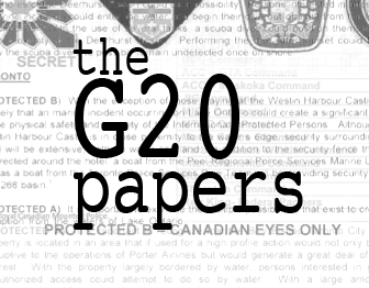 The G20 Papers: Links to articles based on summit security Documents