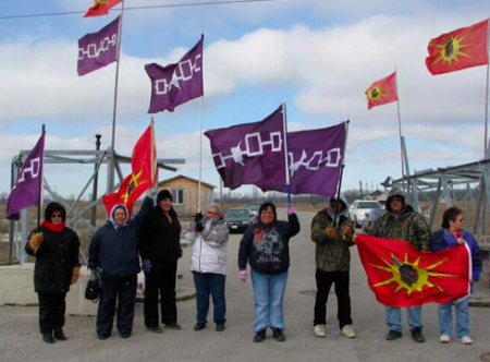 Photo from recent march to build solidarity between six nations and non-native supporters