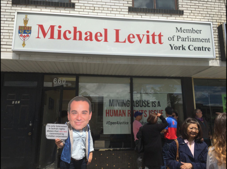 Protest happens outside as Levitt's office is occupied to demand a human rights ombudsperson