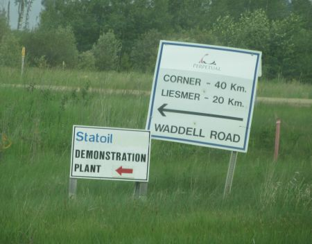 Sign for Statoil's site near Conklin. Photo by author.
