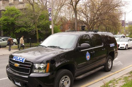 Toronto Police Service video surveillance SUV filmed gardeners for about 30 minutes photo: Kristyna Balaban
