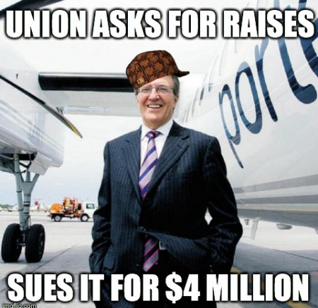 Another example of quick meme generation by strike supporters.