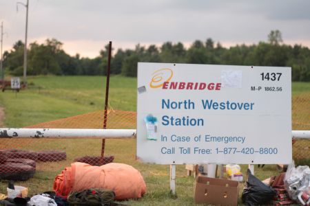 Anti-pipeline activists occupy Enbridge plant