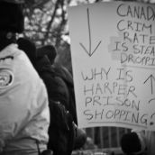 Despite crime stats being on the decline, the Harper administration pushes for prison expansion and a draconian crime bill.