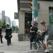 random bag search in non-protest area, june 27