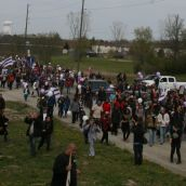 rest of the march Arrives at Kanonhstaton