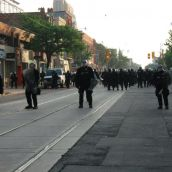 Gabriel Sinduda: g20.toronto. Gabriel Sinduda: g20.toronto. Approaching the Line of Intimidation -- Getting closer...