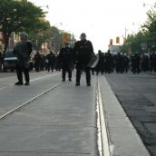 Gabriel Sinduda: g20.toronto. Approaching the Line of Intimidation -- They do look serious...