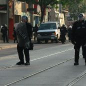 Gabriel Sinduda: g20.toronto. Approaching the Line of Intimidation -- Is that a knee-jerk I see?