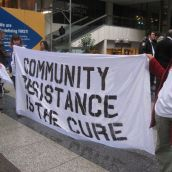 Community Resistance is the Cure! (photo by Maryam Adrangi)