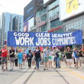 Thousands March for Jobs, Justice and Climate in Toronto